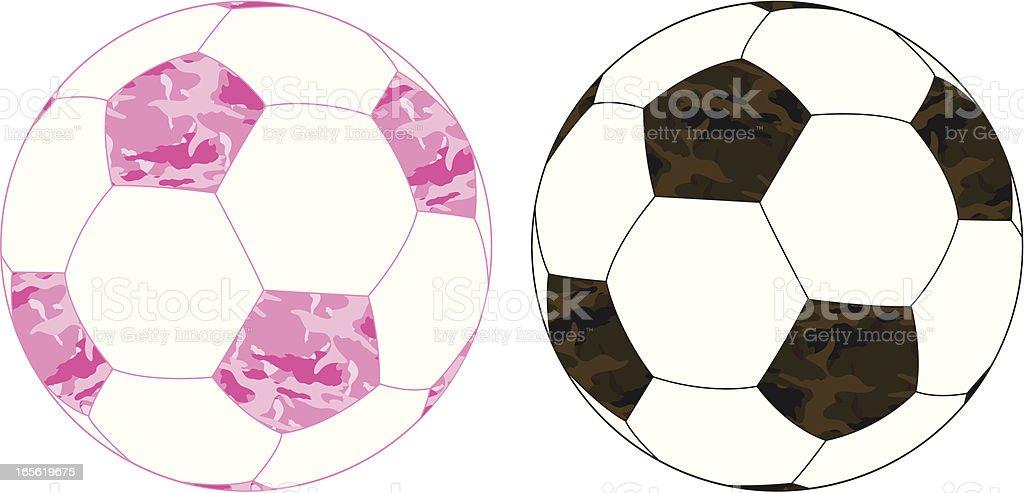 Camuflagem bolas de futebol - ilustração de arte em vetor