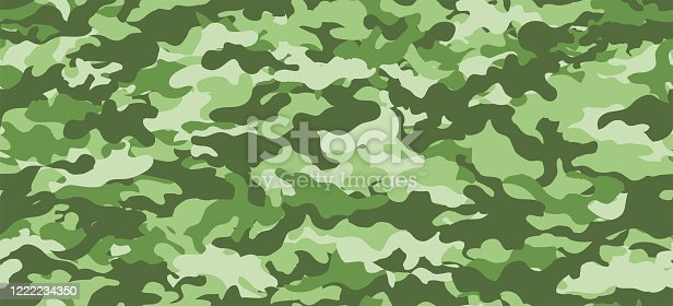 Camouflage background. Seamless pattern vector.