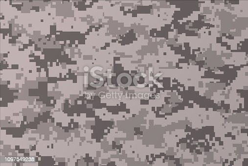 Military digital camouflage background pattern.