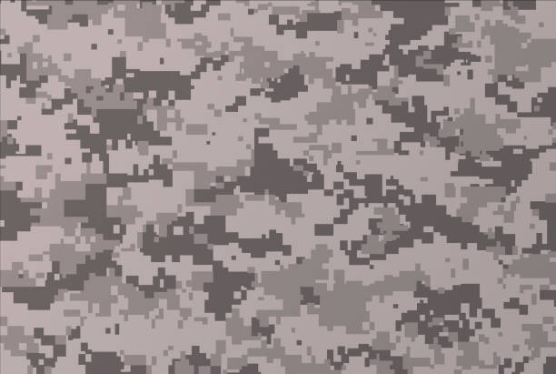 Camouflage Background vector art illustration