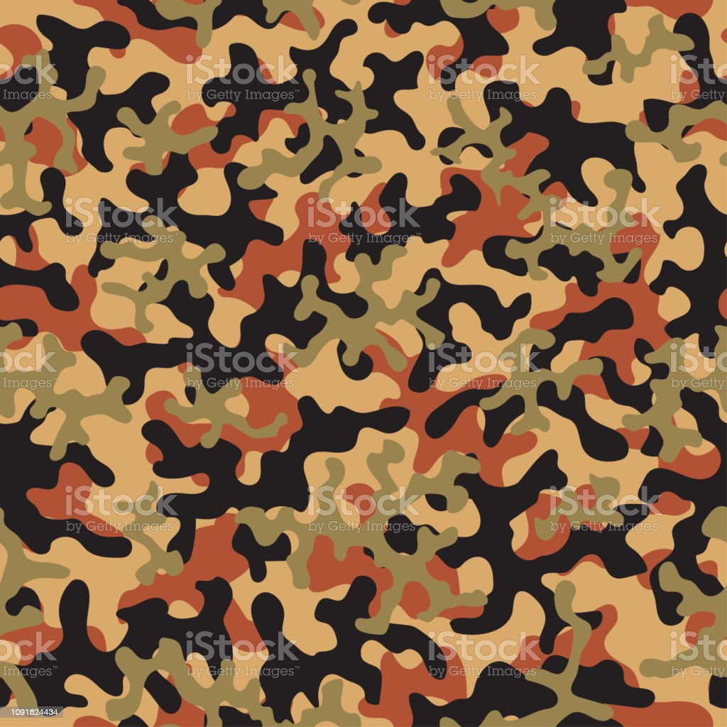 Camouflage Fashion Pattern Seamless Background Abstract Cool