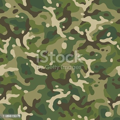 camouflage forest seamless pattern