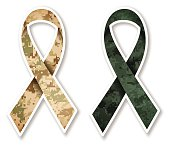 Camouflage Military Ribbon