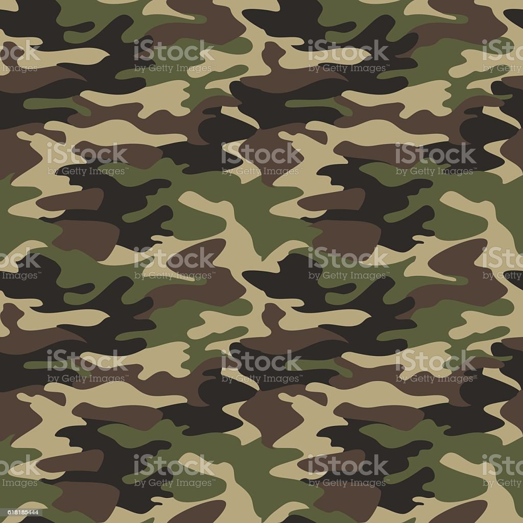 Camouflage pattern background seamless vector illustration. Clas vector art illustration