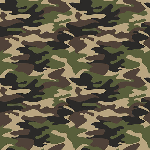 camouflage pattern background seamless vector illustration. clas - 偽裝 幅插畫檔、美工圖案、卡通及圖標