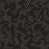 Camouflage pattern background seamless vector illustration. Gray and black abstract geometric background. Seamless pattern with hexagon element vector illustration. Modern texture, print for fabric.