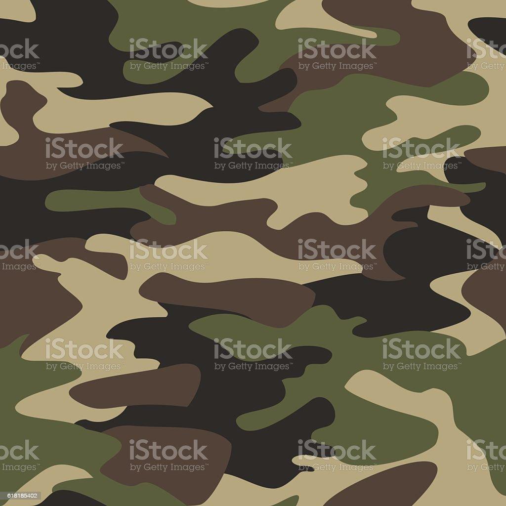 Camouflage pattern background seamless vector illustration vector art illustration