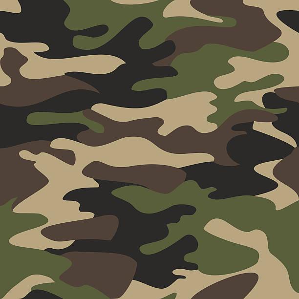 ilustrações, clipart, desenhos animados e ícones de camouflage pattern background seamless vector illustration - forças armadas