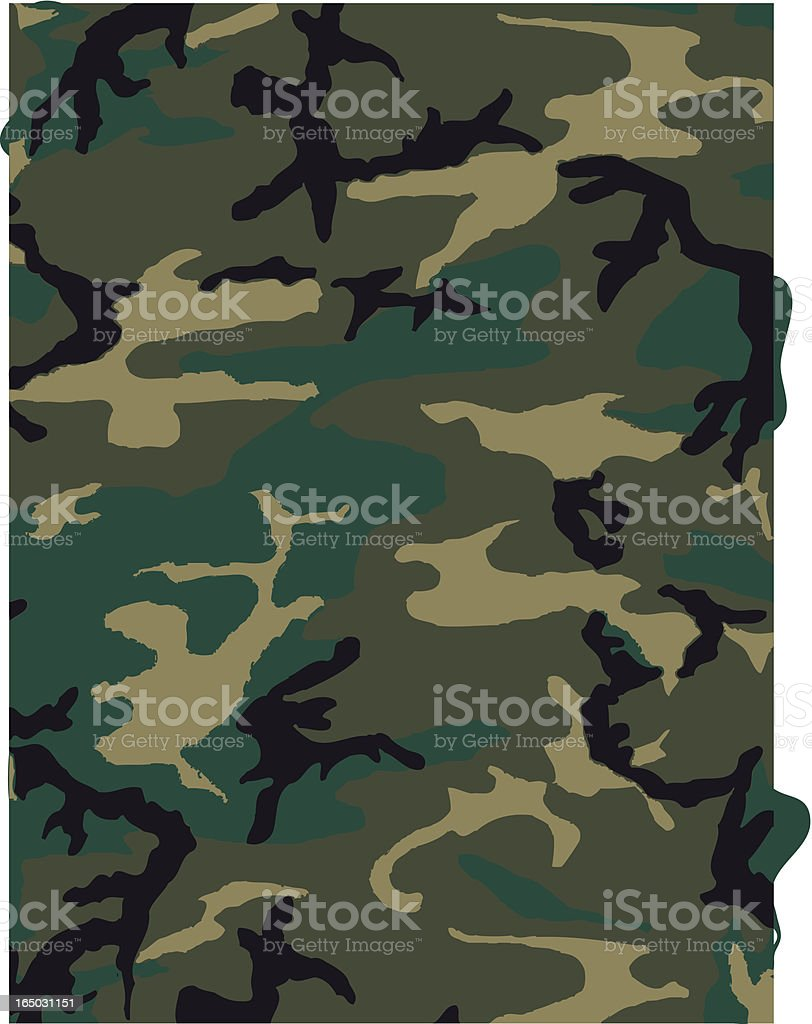 Camouflage Pattern in Jungle Green royalty-free stock vector art