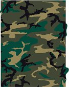 Camouflage Pattern in Jungle Green