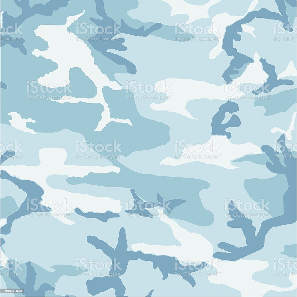 Camouflage Pattern in Light Blue royalty-free stock vector art