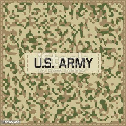 Einem Camouflagemuster Vektor Illustration 468987083 | iStock