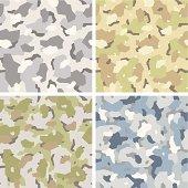 Camouflage pattern set. Seamless vector illustration