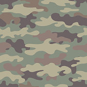 Camouflage seamless pattern. Abstract military style backdrop.