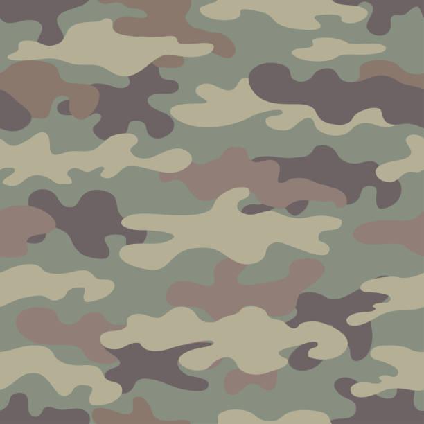 偽裝無縫圖案。抽象軍事風格背景。 - 偽裝 幅插畫檔、美工圖案、卡通及圖標
