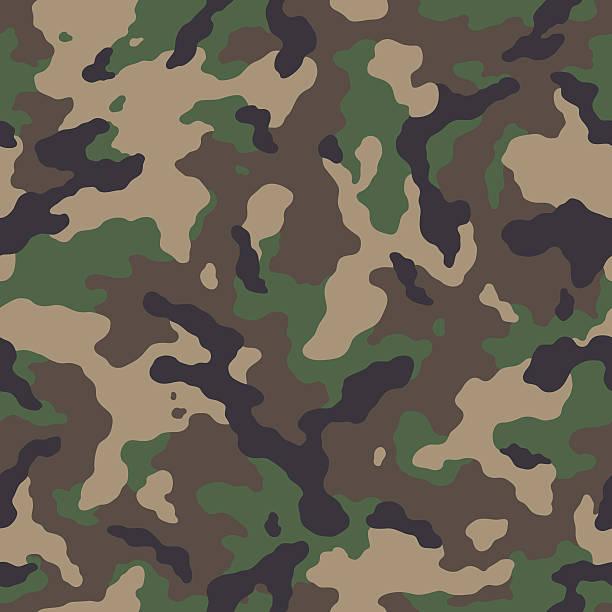 ilustrações, clipart, desenhos animados e ícones de sem costura padrão de camuflagem - forças armadas
