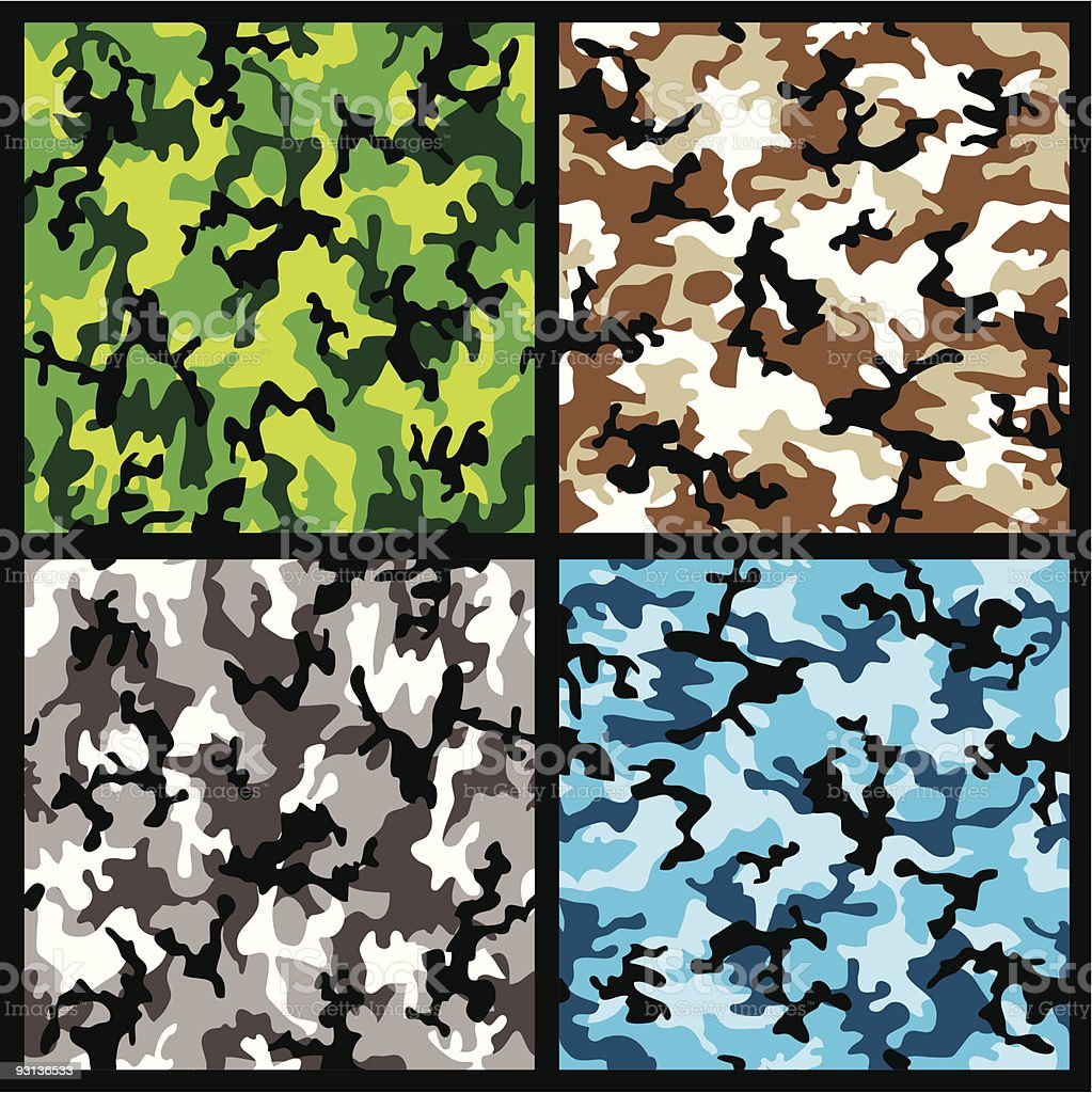 camouflage set royalty-free stock vector art