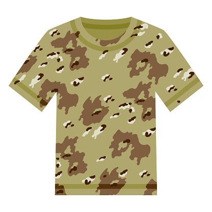 Camouflage Shirt Icon on Transparent Background