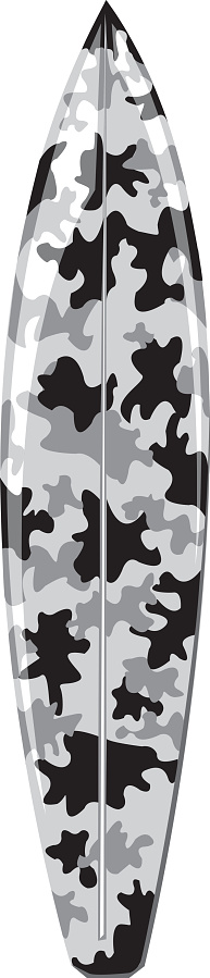 Camouflage Shortboard