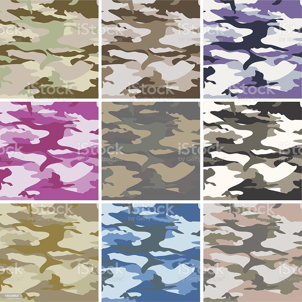 Camouflage royalty-free stock vector art