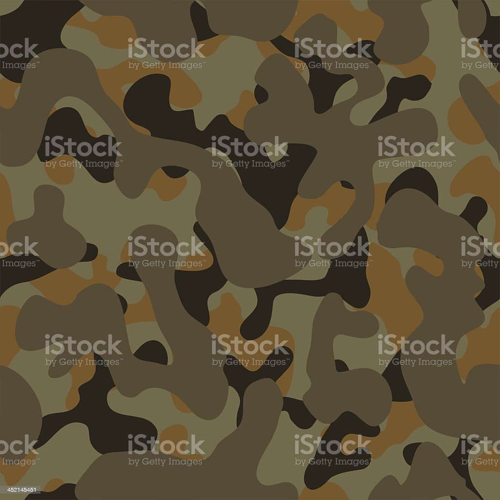 Camouflage (seamless on all 4 sides) royalty-free stock vector art