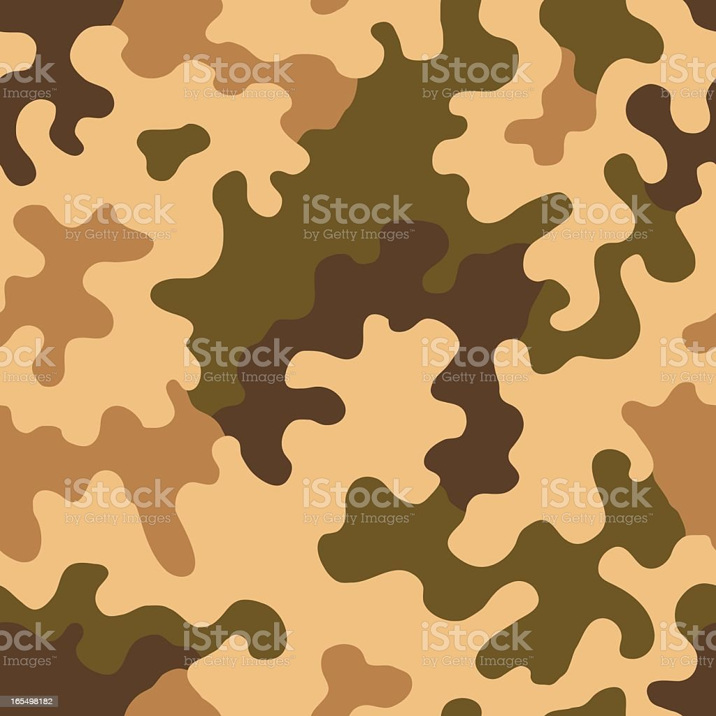 Camouflage Vector - Seamless Tile (Desert Amoeba) royalty-free stock vector art