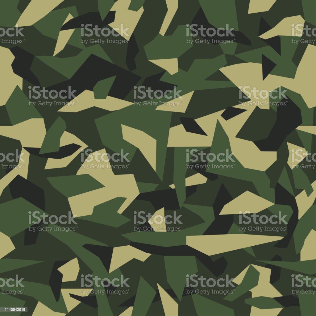幾何学模様の迷彩シームレスな質感 ミリタリースタイルの抽象トレンディな壁紙緑カーキ色の背景 お面のベクターアート素材や画像を多数ご用意 Istock