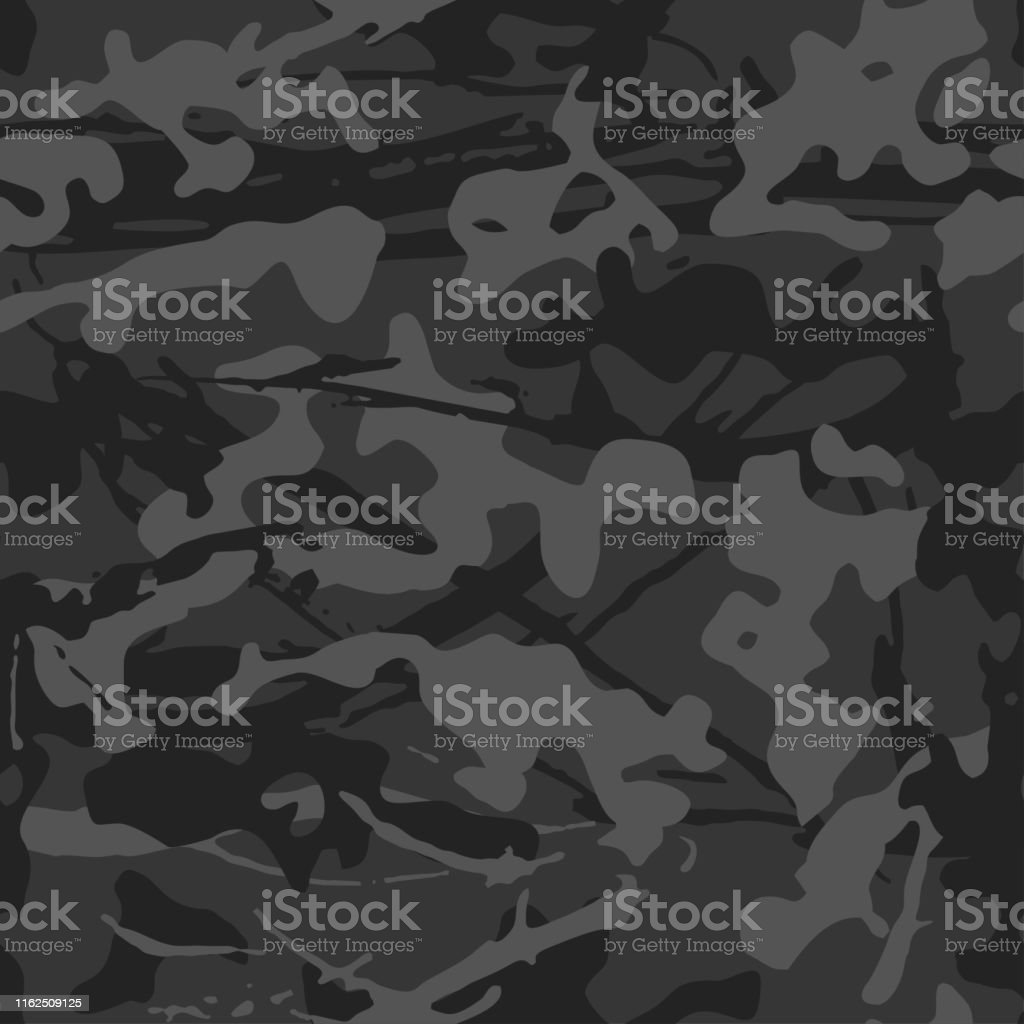 Camouflage With Strokes And Splashes Shape Seamless Texture