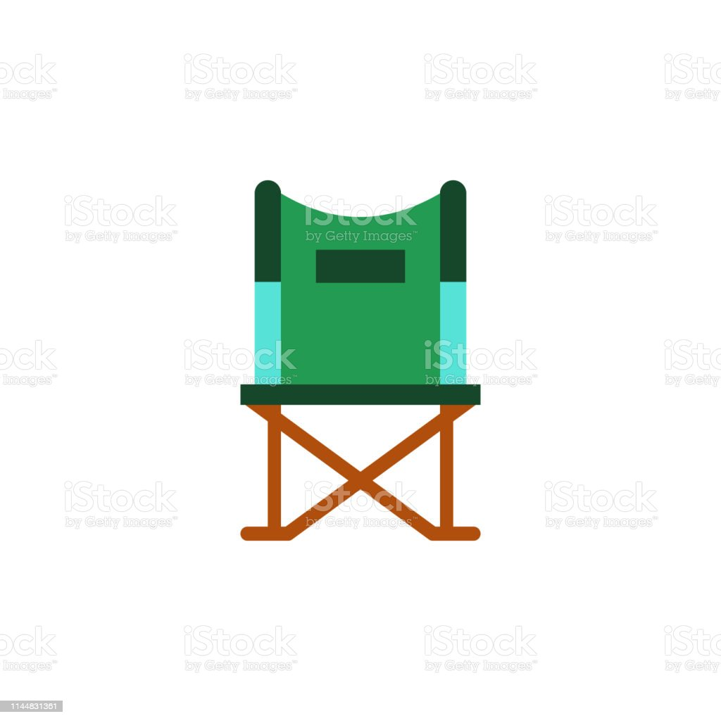 Camp Chair Folding Icon Element Of Color African Safari Icon
