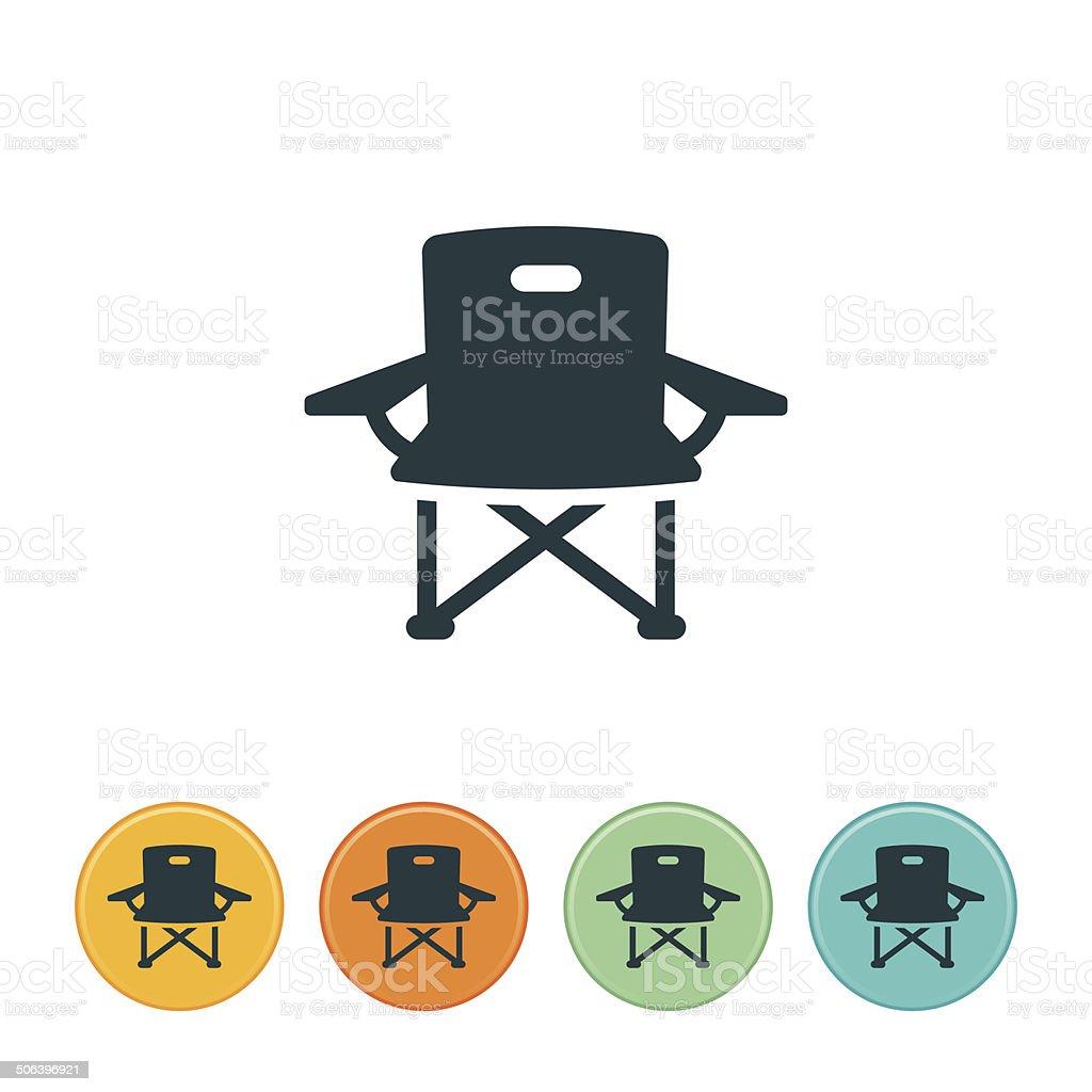 Camp Chair Icon vector art illustration