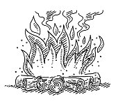 Camp Fire Symbol Drawing