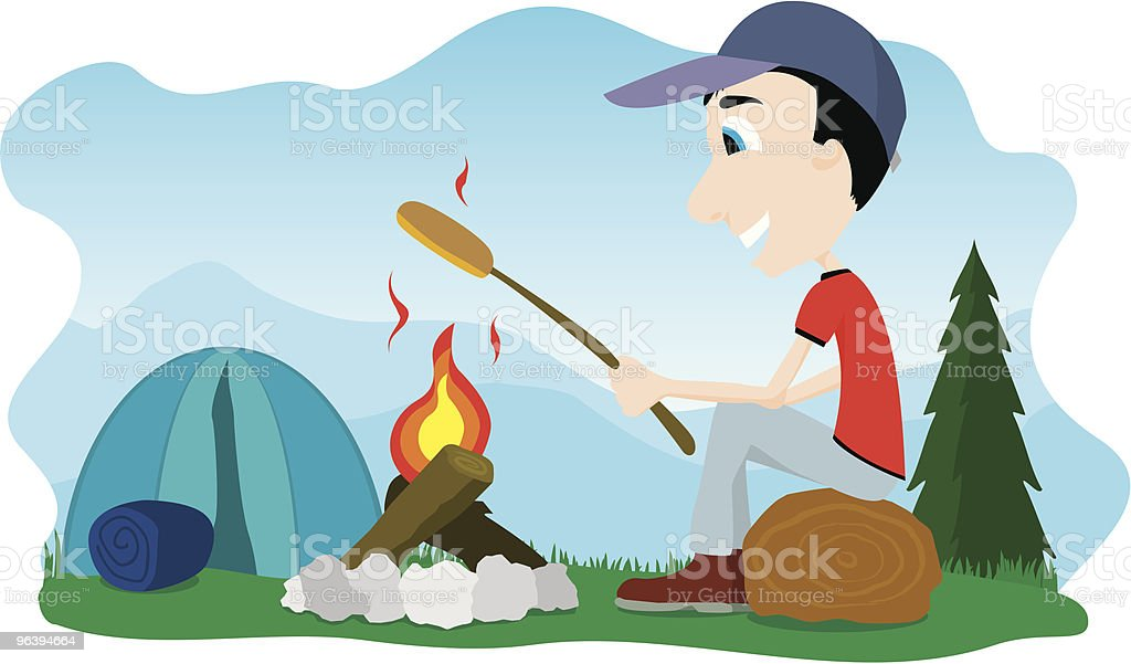 Camp Fire - Royalty-free Adult stock vector