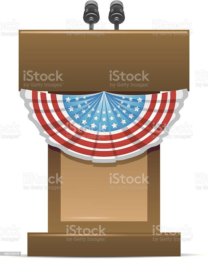 Campaign Podium vector art illustration