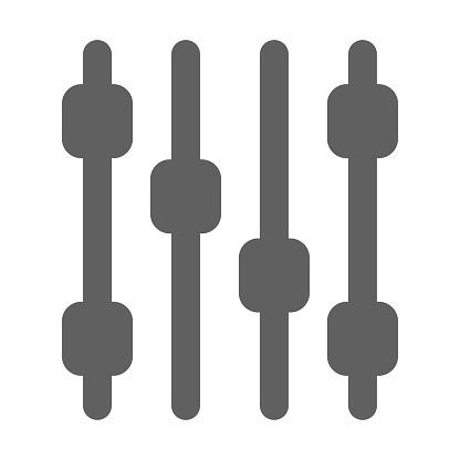 Campaign tweaking icon / gray vector