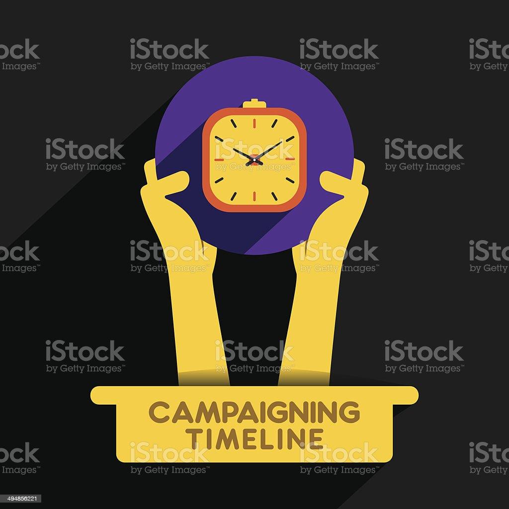 campaining timeline icon vector art illustration