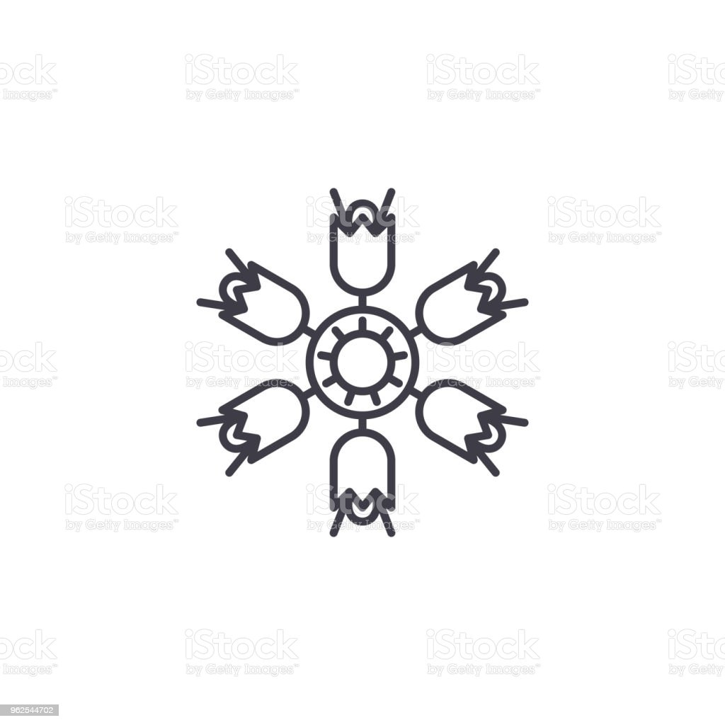 Campanula line icon concept. Campanula flat vector sign, symbol, illustration. vector art illustration