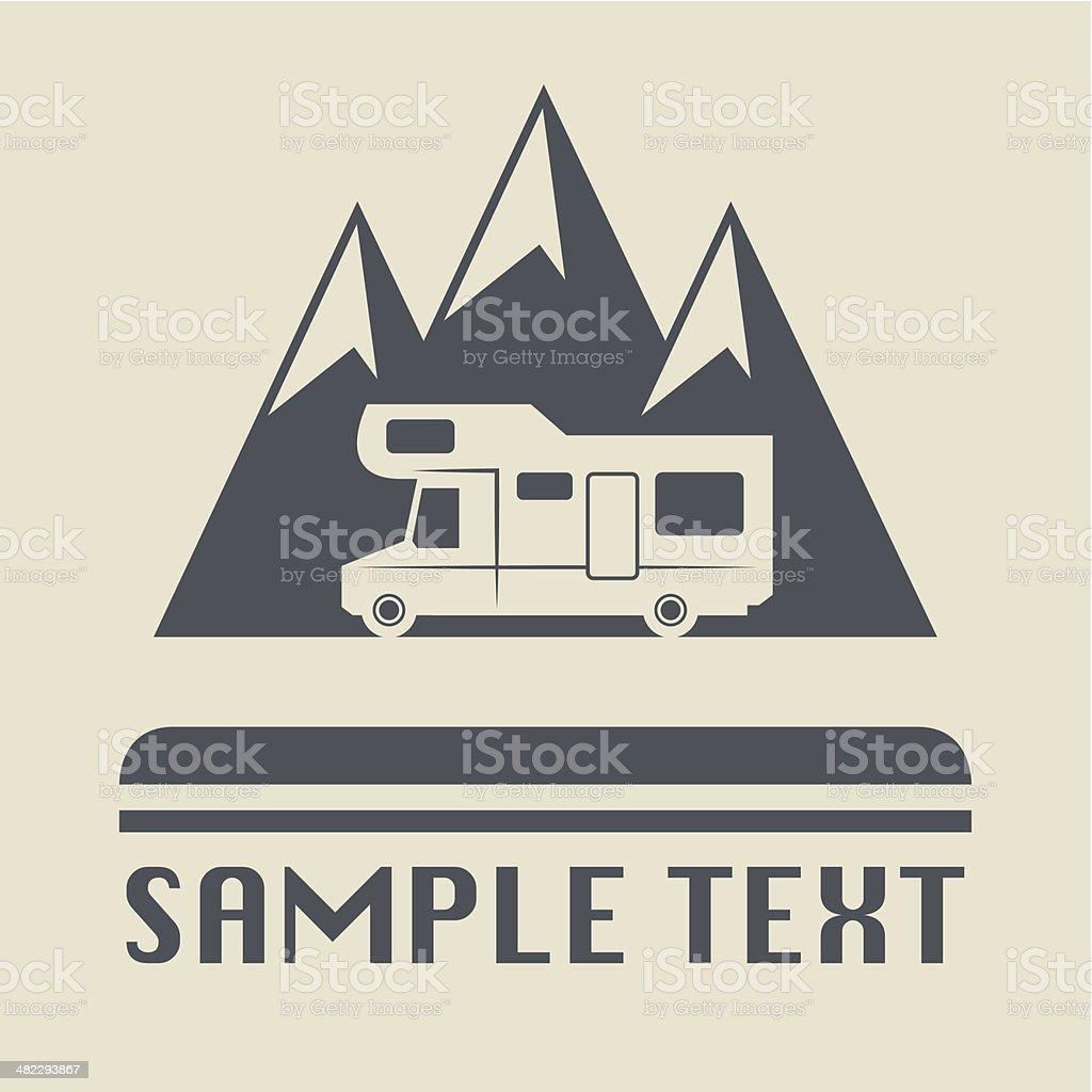 Camper icon vector art illustration