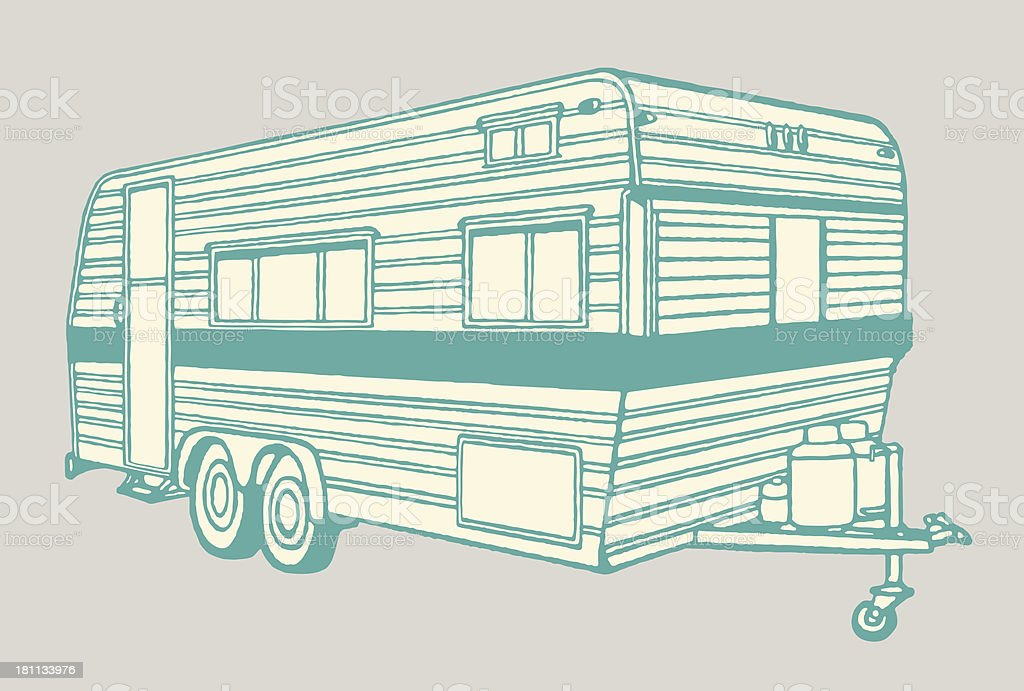 Camper Trailer Royalty Free Stock Vector Art Amp More Images Of Camping