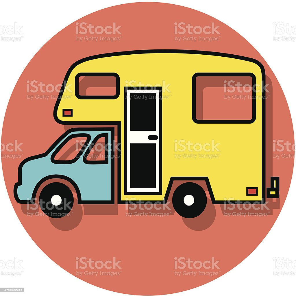 camper truck icon royalty-free stock vector art