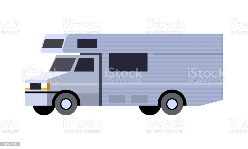 Camper van vehicle - Royalty-free Abstract stock vector
