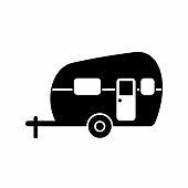 istock Camper Vector Illustration on White 1253938935