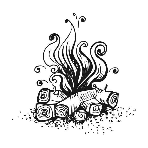 royalty free black and white flame clip art vector images illustrations istock. Black Bedroom Furniture Sets. Home Design Ideas