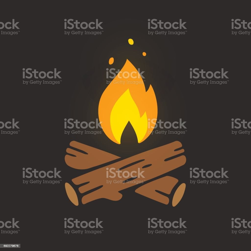 Campfire logo illustration vector art illustration