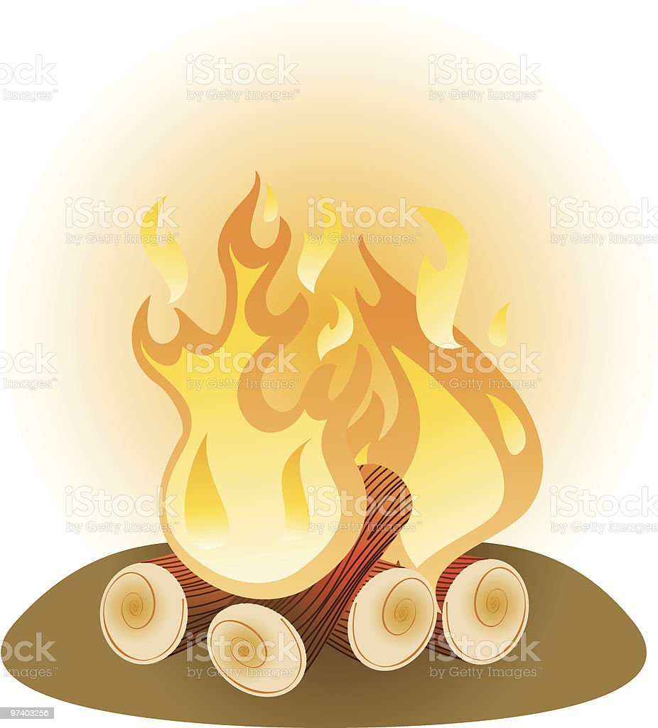 Campfire royalty-free stock vector art