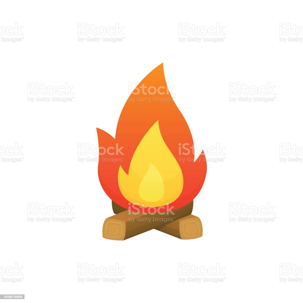 Campfire vector vector art illustration