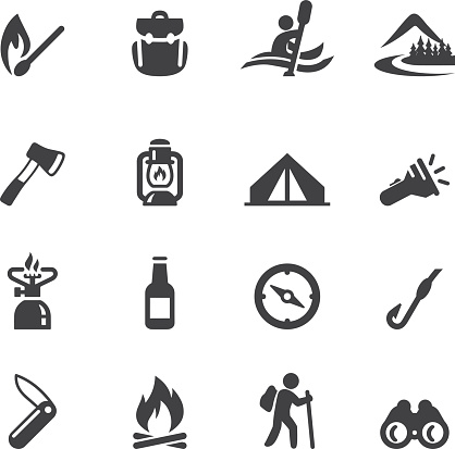 Camping Advanture Silhouette icons