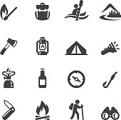 Camping Advanture Silhouette icons