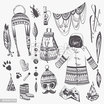 Camping and Fashion Clipart