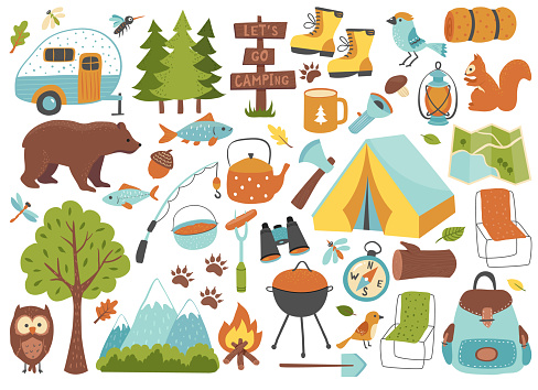 Camping and hiking set.
