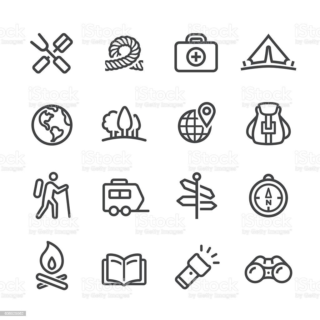 Camping and Outdoor Icon - Line Series vector art illustration